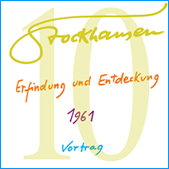 Stockhausen Special Edition Text-CD 10