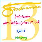 Stockhausen Special Edition Text-CD 13