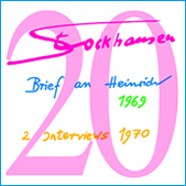 Stockhausen Special Edition Text-CD 20