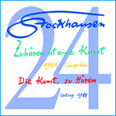 Stockhausen Special Edition Text-CD 24