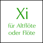 Xi for flute